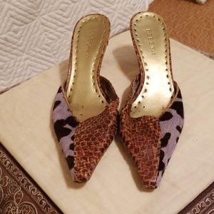 Unique leopard snakeskin heels
